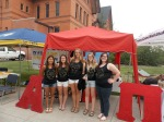 AOII's booth
