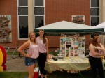 Chi Omega's booth
