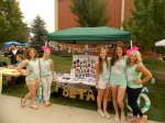 Pi Phi's booth