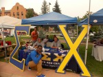 Sigma Chi's booth